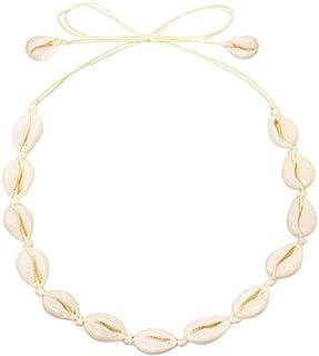 CUSVUEVI Women's Natural Shell Choker Necklace, Handmade...