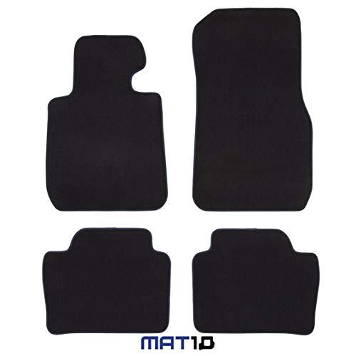 MAT10 Alfombrillas para BMW F30 Sedán y Touring, año de construcción 2012-02 -2019-02, Terciopelo, 4 Piezas, Color Negro, Ajuste garantizado, LL BMW F30