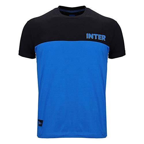 Inter T-Shirt Manica Corta, Uomo, Nero Royal, L