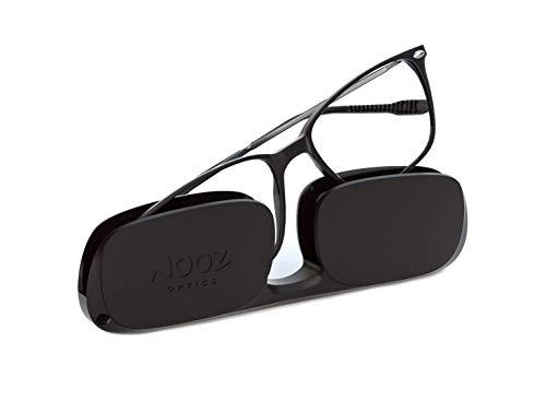 Nooz Occhiali da Lettura - Colore Nero Correzione +2.50 - Forma Rettangolare - Per Uomini e Donne - Modello Bao Collezione Essential