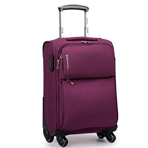 ZHIRUI Trolley CaseNew Rolling Luggage Bag with Chair,Men Travel Koffer with Wheel,Waterproof Nylon Trolley Case,Koffer can be sit 71,1 cm Purple