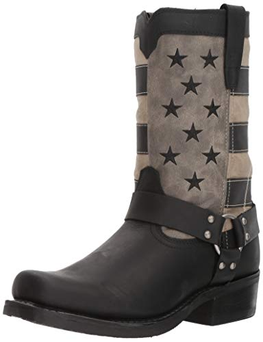 Durango Black Faded Flag Harness Boot Size 11(M)