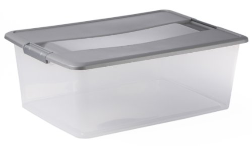Sundis Kliker Box A3 Argent Perdu, Plã¡Stico, Transparente/Plata, 35L