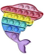 pEGONE Push Bubble Fidget Toys Sensory Pas Cher,Anti Stress Mini Gadget,Rond Multi-Couleurs Silicone Jouet,Soulage Stress et Anti-anxiété,TDAH ou Autisme,Pour Enfant Et Adulte