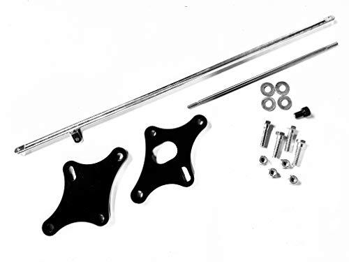 "Yamaha V-Star 650 4"" Forward Control Extension Kit - Black Powder Coat, Stainless Steel Extension Depot"