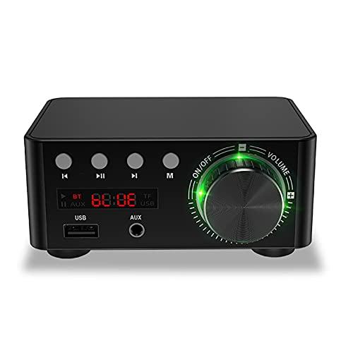 WWMH Mini Hi-Fi estéreo Amplificador(2 x 50W) Amplificador Audio para MP3 MP4 Amplificador Estereo para Telefono Ordenador DAC y etc Audio Amplificador subwoofer para Coche Motocicleta,Negro