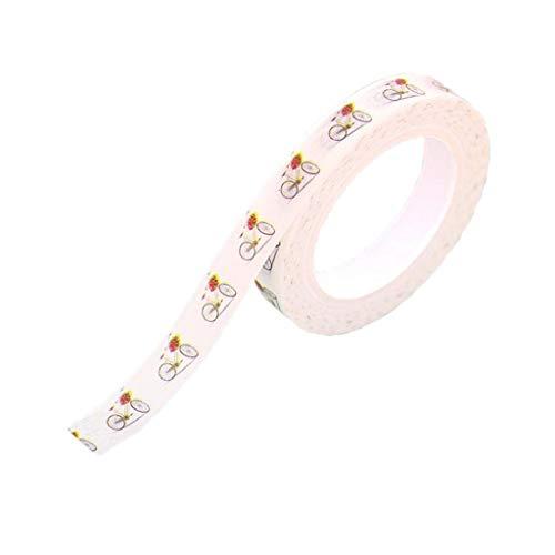 1 Rolle Washi Tape Scrapbooking Klebeband Aufkleber Masking Tape für Handarbeit, Basteln und Kunsthandwerk - Fahrrad