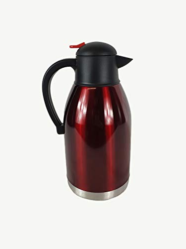 Stainless Steel 2L Vacuum Insulated Jug Flask (Red 2016)