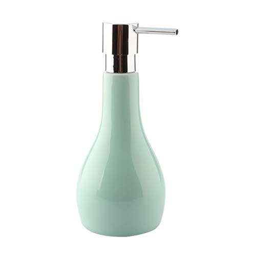 Meet's shop Dispensador de loción y jabón dispensador de líquido blanco albaricoque negro verde cerámica botella líquida hogar baño champú ducha gel loción dispensador accesorios baño
