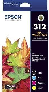 Epson (312) C13T182992 Genuine (4 colour) Ink Cartridge Value Pack