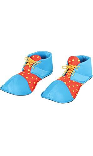 Fiestas Guirca- Scarpe Clown Adulto, Colore Azzurro/Rosso/Giallo, 17540