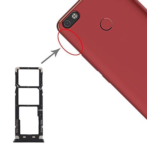 un known Teléfono móvil reemplazable Tarjeta SIM Bandeja + Tarjeta SIM Tray + Bandeja de Tarjeta Micro SD para TENCO CAMON X Pro CA8 Accesorio Partes de máquina (Color : Black)