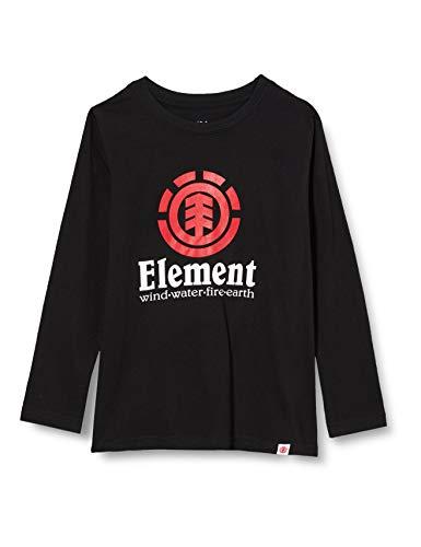 Element Vertical-Camiseta de Manga Larga para Chicos, Niños, Flint Black, 16