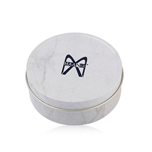 Gaddrt Couleur maquillage pinceau propre oeil ombre éponge nettoyeur outil fer boîte (Argent)
