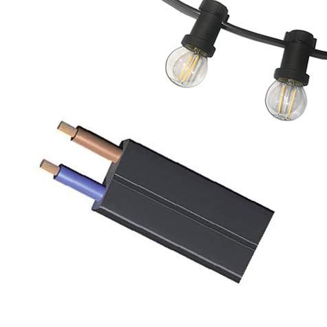 Cable plano de guirnalda de feria homologado 2 x 1,5mm (SIN CASQUILLOS) - Accesorios para lámparas