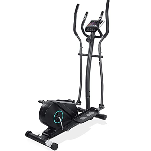 Elliptical Machine for Home Use Elliptical Machine Trainer Elliptical Exercise Machine for Life Fitness Bike with 11LBS Flywheel Magnetic Resistance Heavy Duty Extra-Large Pedal Pulse LCD Monitor