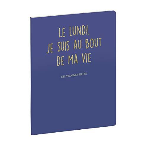 Exacompta 210502E - Notebook Les Vilaine meisjes, gelinieerd, 15 x 21 cm