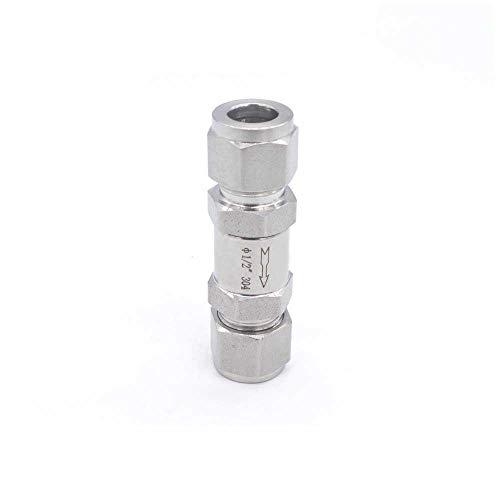 YIJIAN-UMBRELLA Compresor de Aire de la válvula de retención de Acero Inoxidable 316 Mini 1/4 1/8 3/8 1/2 3 mm 6 mm 8 mm 10 mm Compresor de Aire de la válvula de Gas (Specification : 3/8')