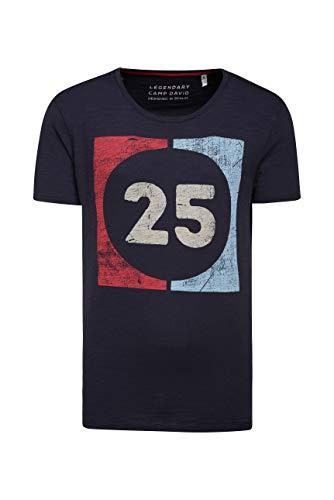 Camp David Herren T-Shirt aus Flammgarn mit Used Print