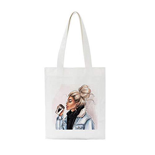 ZIJ Invierno Sexy Hermosa Vogue Muchacha Hombro Bolsas de Lona Crossbody Capacidad Grande Harajuku Handbag Street Mujer Bolsa Bolso (Color : 3936)