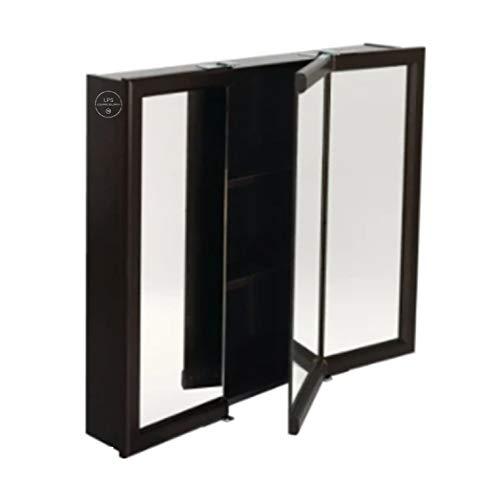 "24W x 26"" H Surface Mount Espresso Wood Medicine Cabinet"