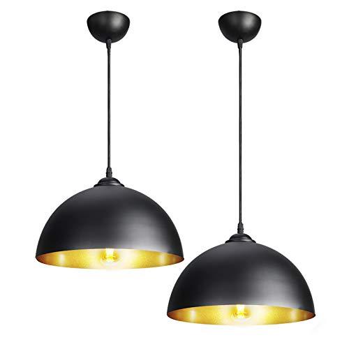 CCLIFE 2PZ, Metallo Lampada da Soffitto Industriale Lampada a Sospensione Vintage Industriale E27...