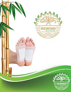 Natures Bamboo Vinegar 30 Foot Pads Patch- Premium 100% Natural Organic Bamboo Foot Patches Feet Relaxation Patch - 30 Pads