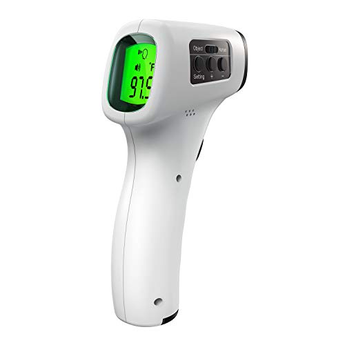 Non-Contact Infrared Thermometer with CE, ROHS, Fever Alarm, LCD Display Instant Reading, 30sets Memory Function, Digital Forehead Temperature Measurement