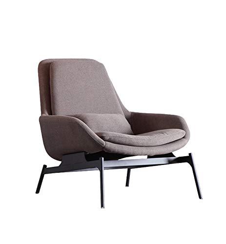 LC-SHBAGS Ohrensessel Sessel Einzigen Sofa Stuhl Modernen Minimalistischen Stil Ohrensessel, Baumwolle Leinen Sessel Schmiedeeisen (grau)