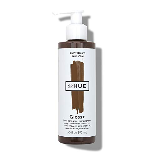 dpHUE Gloss+ - Light Brown, 6.5 oz - Color-Boosting Semi-Permanent Hair Dye & Deep Conditioner - Enhance & Deepen Natural or Color-Treated Hair - Gluten-Free, Vegan