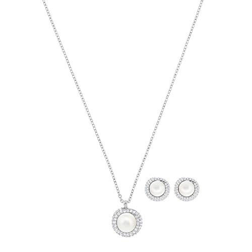 Swarovski Set Originally, Bianco, Placcatura Rodio