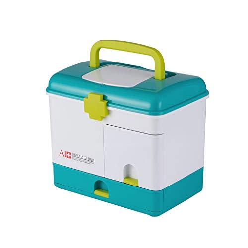 WYQ- Caja de Medicina Muchos Rejilla Almacenamiento portátil Primeros Auxilios Adulto Hogar Caja médica Grande Recoger