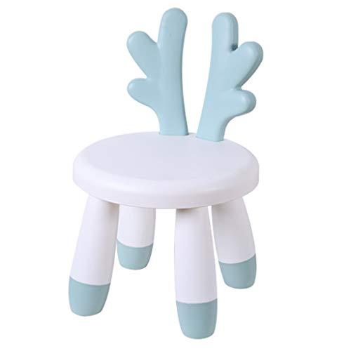 YLCCC Decoratiekruk voor kinderen, ronde kruk van kunststof, stoel met rugleuning voor kinderen Blanc