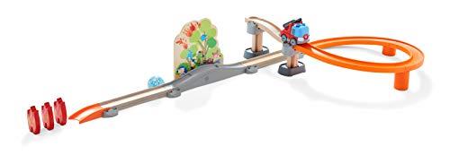 HABA 304830 - Kullerbü – Sound-Spielbahn Feueralarm, Holzkugelbahn mit viel Action und Soundeffekten, Motorikspielzeug ab 2 Jahren