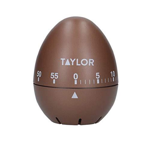 Taylor Eieruhr, Eiförmiger Klassischer Countdown-Timer mit Rotationsmechanismus zur Benachrichtigung beim Kochen und Backen, 60 Minuten, Kupfer
