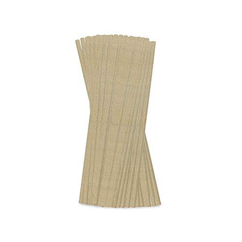 BIOZOYG Cannucce di Carta Erba Ecologiche Ø 0,6 cm Non sbiancate I 200 Cannucce per Bere di Carta con Rivestimento Organico 21 cm I Cannucce Sostenibili in Carta con Erba biodegradabili