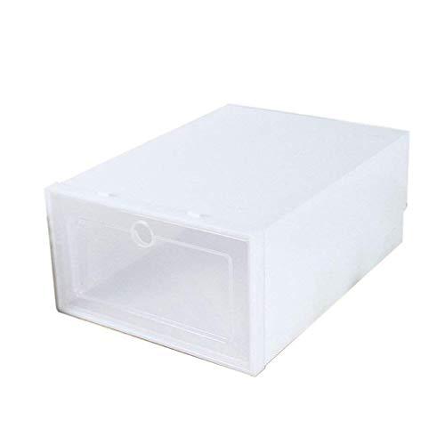 Caja de almacenamiento Caja de zapatos de plástico Pp colorida Caja de almacenamiento de zapatos transparente móvil plegable para el hogar Caja de almacenamiento colorida