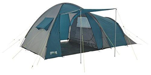 Open Air Mont Blanc Camping-Familienzelt für 4 Personen, grün/grau