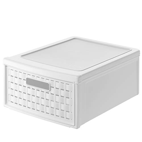 Rotho 1148100100 - Scatola a cassetto Country, colore bianco