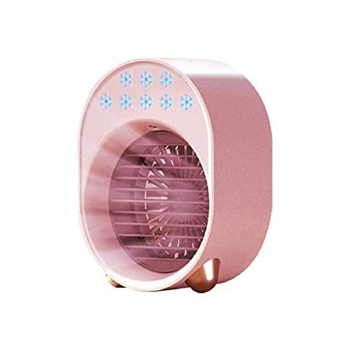 GFDFD Ventilador USB Aire Acondicionado Portátil Mini Aire Acondicionado Multifunción Humidificador Escritorio Tipo De Aire Cooler para Oficina Y Uso Doméstico (Color : Pink)