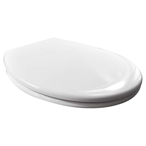 WOLTU Heavy Duty Soft Close Quick Release Toilet Seat with Dual Fixing Fittings,White