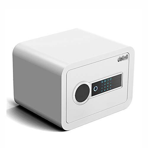 ZZHBXG BBGS Tresore Touch-Screen-Password Safe, 25 cm Anti-Diebstahl-Semiconductor-Fingerabdruck-Versicherung Kabinett Passwort Safe Mit Teleskop-Drehstiel Sicherer Schrank (Color : White-25CM)