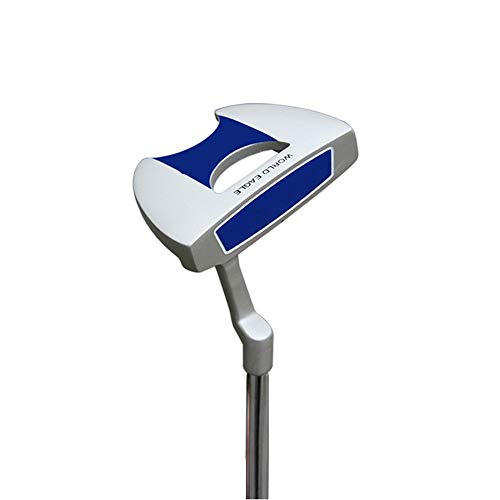 Yhjkvl Golfschläger Männer und Frauen Putter Zink Legierung Edelstahl Golf Putter Golf Club Halbkreisförmige Putter Blau, Lila Golf-Putter (Color : Blue, Size : 34.5 inches)