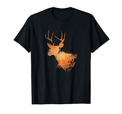 Motivo Animal Silueta | Naturaleza | Cazador Ciervo rojo Camiseta