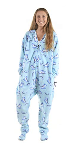 Forever Lazy Footed Adult Onesie - Unicorn- XS