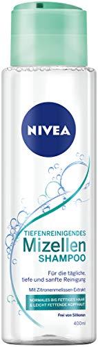 Nivea Mizellen Shampoo für normales bis fettiges Haar, ohne Silikon (1 x 400 ml)