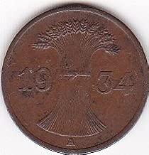 1934-A Germany/Deutsches Reich 1 Reichspfennig