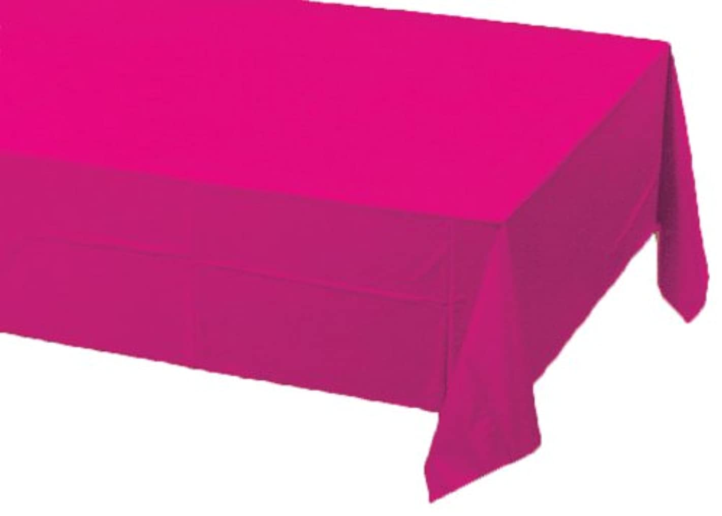 Creative Converting Paper Banquet Table Cover, Hot Magenta