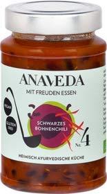 Anaveda Bio Eintopf Nr. 4 Schwarzes Bohnenchili - vegan - 390 g Glas