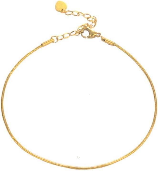 MNBD Anklet Snake Bone Chain Trend Minimalist Cool Cute Charm Single Layer Barefoot Chain Jewelry Gift Titanium Steel